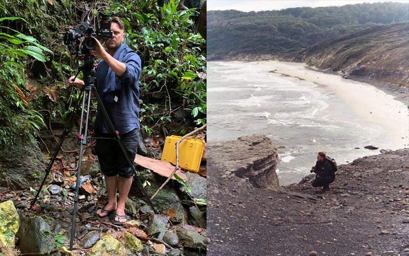 (left) David Bridie, Arare Project. (right) Keith Deverell, Tasmania. Photograph Bianca Blackhall.