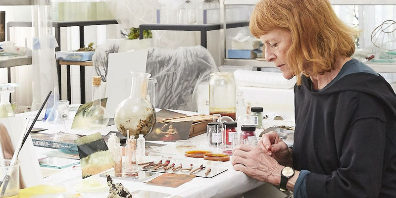 Janet Laurence in the studio Photograph Felicity Jenkins