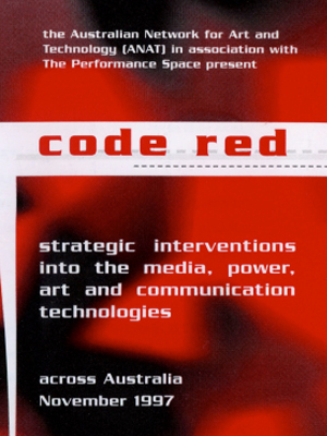 CODE RED, exhibition program cover (1997)