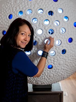 Jill Scott, The Electric Retina (2008), interactive sculpture, 200 x 120 x 80 cm