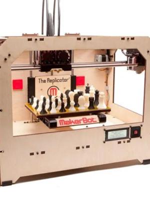 MakerBot Replicator Original, the first desktop 3D printer.