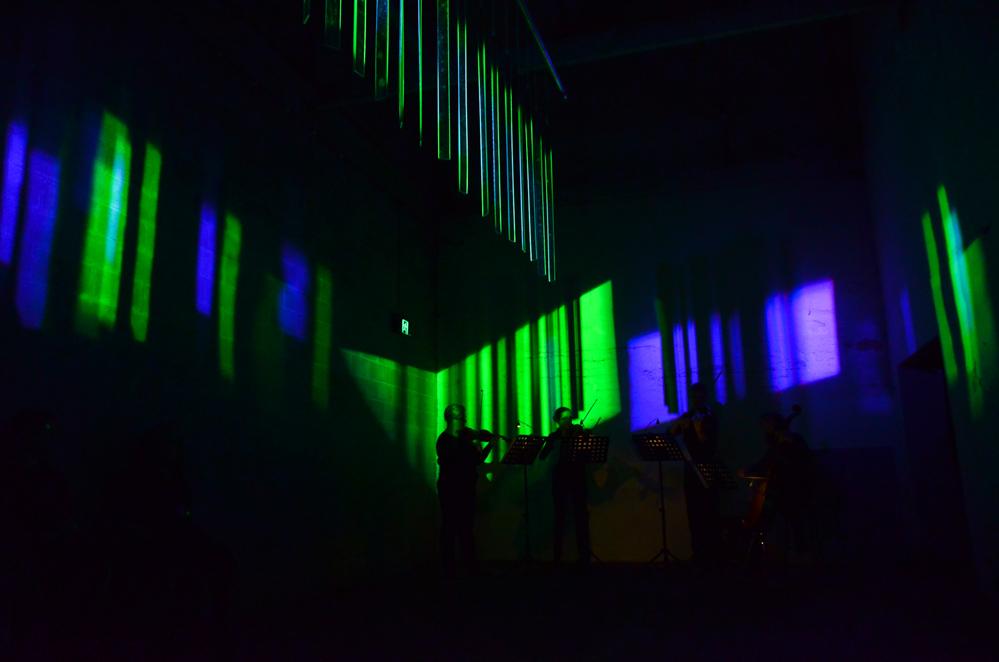 Geoff Cobham, Between Light, Zephyr Quartet. Photograph Heath Britton