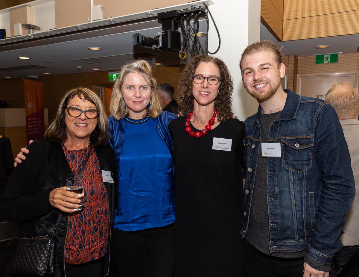 Dr Jill Scott, Cat Jones, Helen Pynor & Ash Tower, 2018 ANAT Alumni Network meeting.