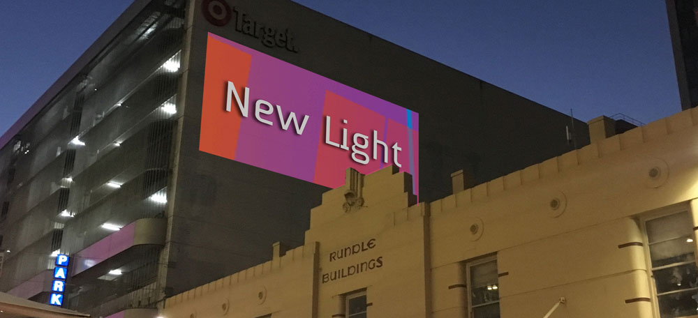 New Light screening in-situ, Rundle Street, Adelaide.