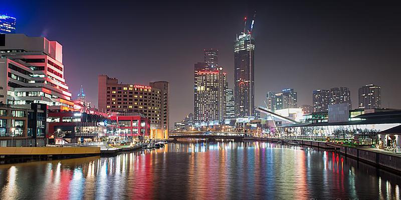 Southwharf Melbourne at night 2014 Photograph Steve Got Camera