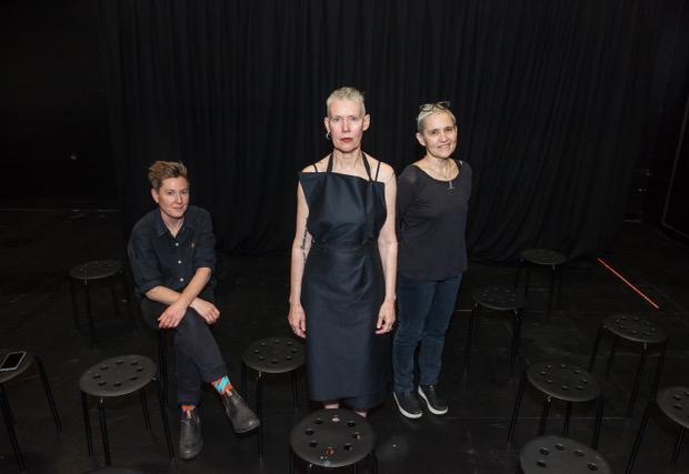 Jessie Boylan, Virginia Barratt, & Linda Dement. Photograph Cynthia Sciberras.