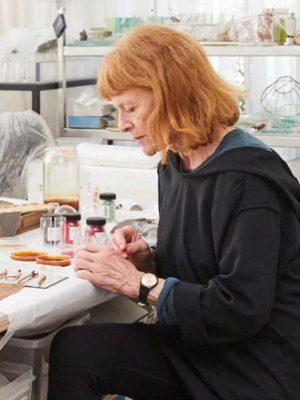 2020 Australian Antarctic Arts Fellow Janet Laurence in the studio Photograph Felicity Jenkins