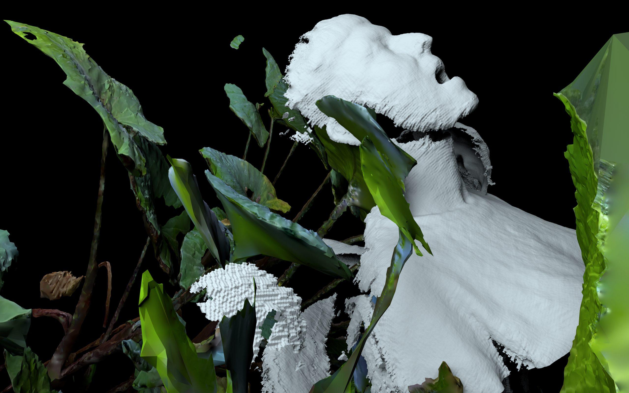 Yandell Walton, 3D rendered still imagery in development using photogrammetry, 2020. Image courtesy the artist.