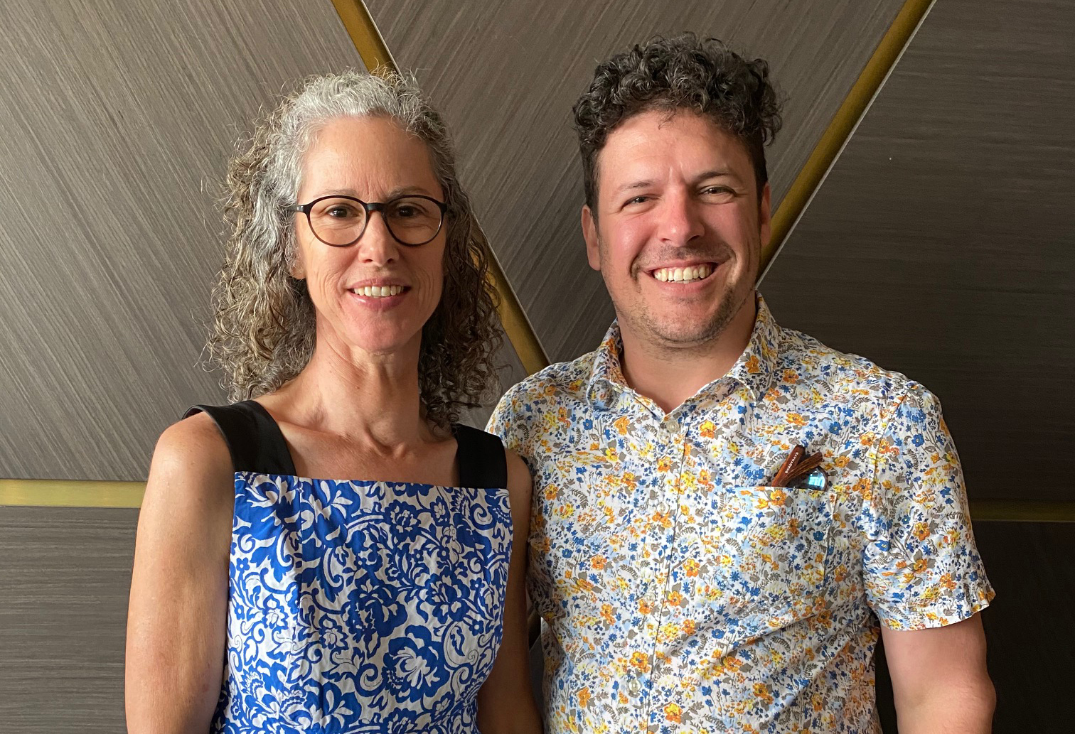 Dr Helen Pynor and Dr Jimmy Breen. Photograph Jenn Brazier.