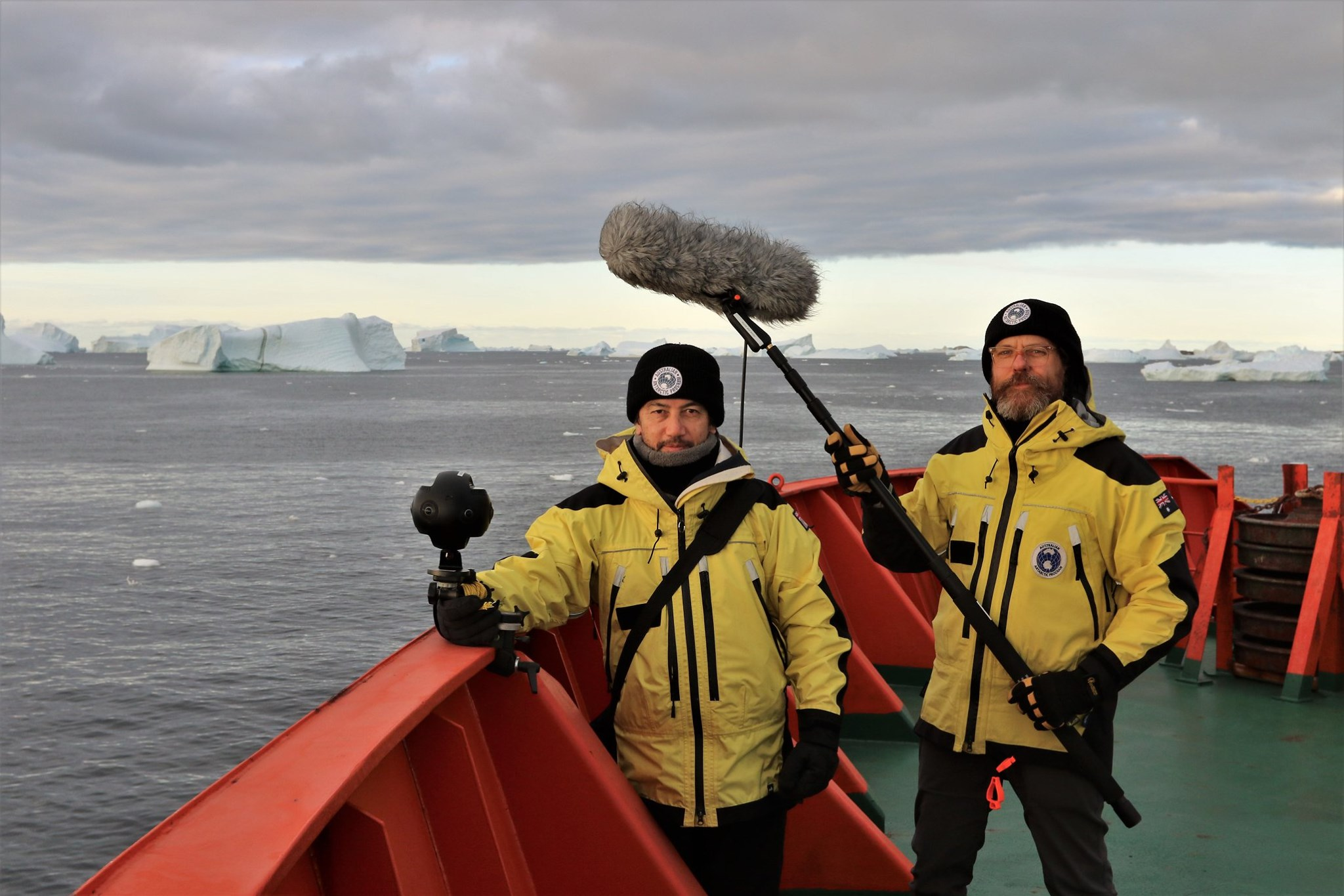 2018 Australian Antarctic Arts Fellows, Dr John McCormick and Dr Adam Nash, aboard the icebreaker RSV Aurora Australis
