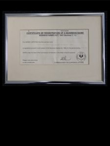 Image: ANAT's certificate of incorporation.
