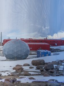 Image: Martin Walch, 'Terra-Antarctica_Time-panorama_Mawson_Station_60 days_20171208- 20180205', (2017-18) – still courtesy of the artist.